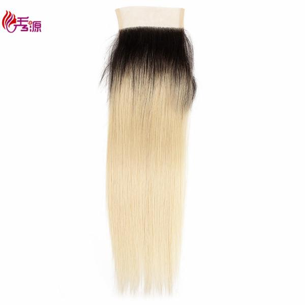 Prezzo di fabbrica all'ingrosso brasiliano 100 non trasformati Virgin Remy capelli umani pizzo frontale 1B 613 capelli biondi Remy chiusura superiore pizzo