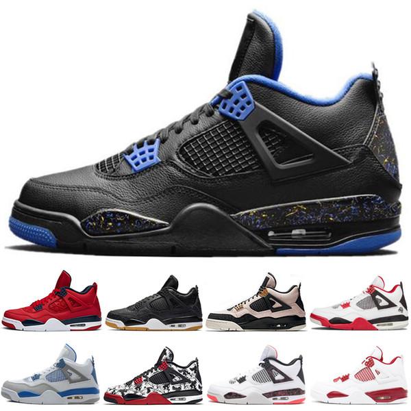 Designer scarpe da basket 4 4s per gli uomini migliori di vendita ali rosse ciò che il cemento bianco Premium Black Thunder Sport Sneakers moda uomo