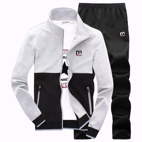 Wholesale New Fashion Spring Autumn Men Sporting Suit Hoodies+Pant Sweatsuit Two Piece Set Tracksuit Set For Men Clothing