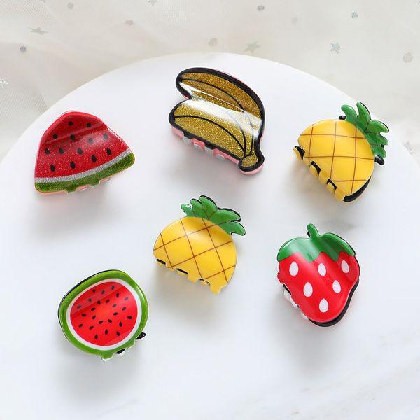1pcs Cute children small Hair Claws Clip Clamp Accessories Cute Fruit shape Mini Hairpin Hairgrip For Kids Little Girl Ornaments