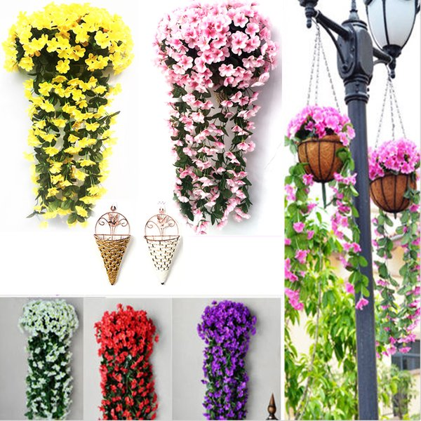 1x Artificial Lavender Vine Flowers Garland Ivy Plants Wall Hanging Wedding 80cm