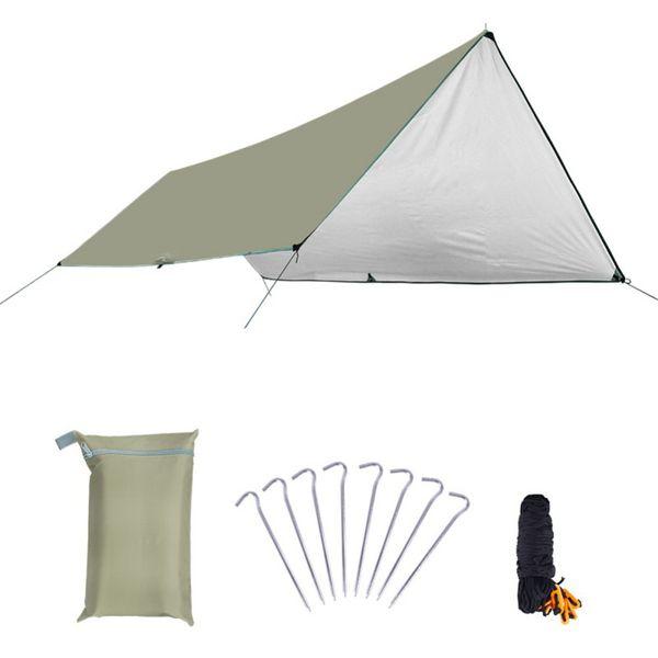 Ultralight Tarp campeggio esterna di sopravvivenza Sun Shelter Ombra Tenda Argento rivestimento impermeabile Beach Camping Blanket 2020