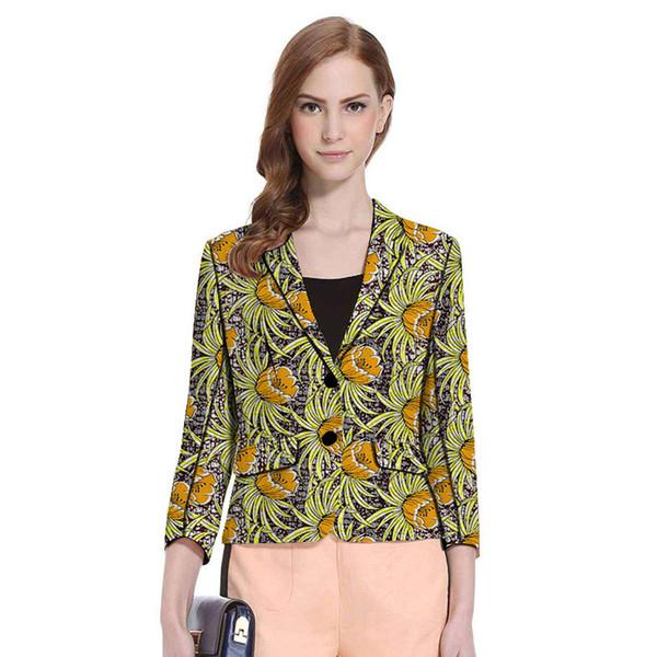 Acquista Dashiki Abbigliamento Donna Stampa Blazer Ankara Modelli Moda Giacca Giacche Su Misura Donna Africana Ufficio Matrimonio Cappotto Donna A