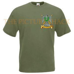 ROYAL SCOTS DRAGOON GUARDS BADGE CAPPUCCIO STAMPATO SU UNA T SHIRT. SCELTA DI 5 COLORI