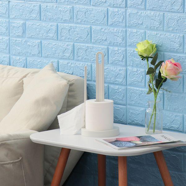 1PC Durable Creative Desktop Punch-Free Paper Towel Rack Vertical Roll Paper Holder Wall Mounted Kitchen Napkin Racks