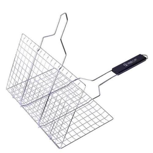 BBQ Meshes Clip Barbecue Net Tool Rack Fish Vegetable Folder  Cook Roast Basket