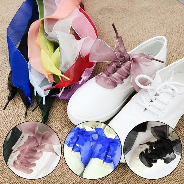 Strings  Sport Ribbon Silk Fantastic Shoes Laces Flat Shoelaces