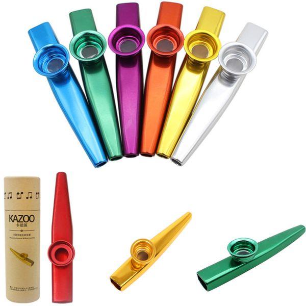 Cebra metal Mirlitón ligero portátil para principiantes Flauta amantes de la música de instrumentos de viento de madera del diseño simple del color ligero 6