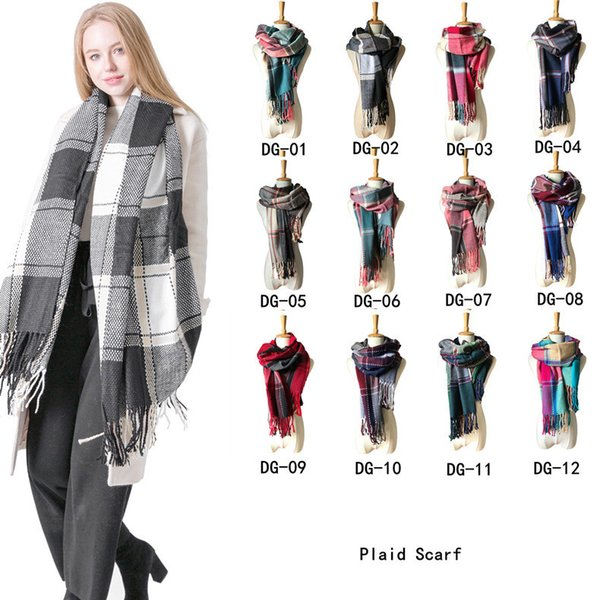 Women Winter Scarf Shawl Fashion Female Blanket Plaid Scarf Tassel lady Classic Scarf Women Basic Scarves