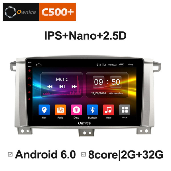 """9"""" 2.5D Nano IPS Screen Android Octa Core/4G LTE Car Media Player With GPS RDS Radio/Bluetooth For Toyota Land Cruiser 100 2005 - 2007 #5873"""