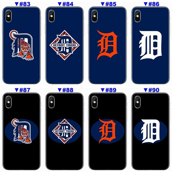 [TongTrade] Soft Silicone TPU Case Cover For iPhone X 8 7 6s 5s Plus Detroit Tigers Coloured Painting Galaxy S9 S8 S7 S6 Edge Plus Case