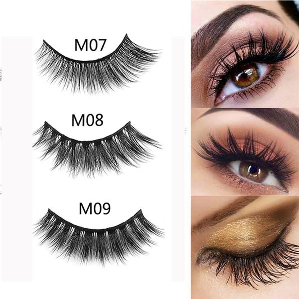 debbf1fd481 3D Mink Hair False Eyelashes Natural Thick Long Fluffy Wispy Handmade Mink  Lashes Extension Reusable Eye