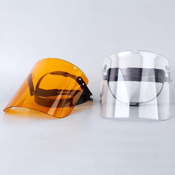 top popular Protective Adjustable Anti Droplet Dust-proof Full Face Cover Mask Visor Shield Droplet Windproof Face Shield Washable 2021