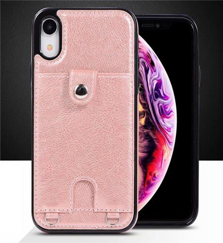 New mobile phone holster creative mobile phone case for iphone xs maxiPhone6/6s protective sleeve diagonal card mobile phone holster