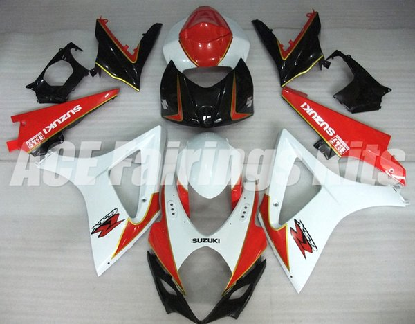 New ABS motorcycle bike Fairings Kits Fit For Suzuki GSXR1000 K7 GSX-R1000 2007 2008 07 08 bodywork set custom Fairing set red white black