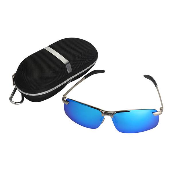 61f519c500 2019 gafas de sol polarizadas aviador hombres mujeres revestimiento  reflectante gafas de sol cuadradas UV400 conducción