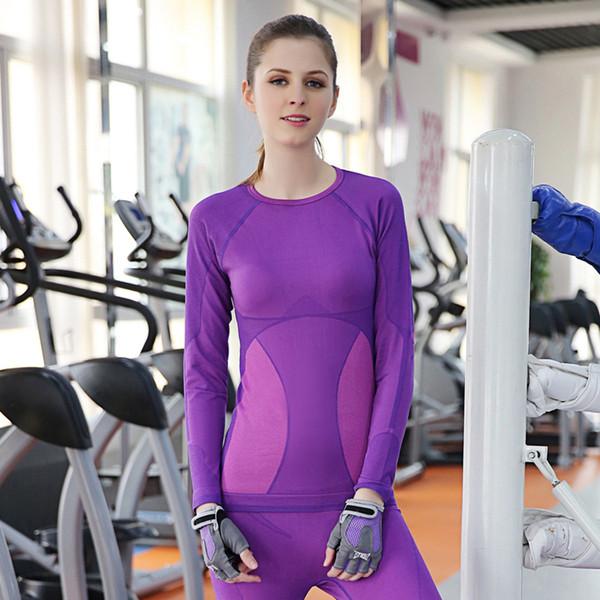 Mulheres Conjuntos de Yoga Ginásio de Fitness Roupas de Ginástica Exercício Camisa Calças de Corrida Calças Justas de Jogging Esqui Treino Leggings Ternos Esportivos M L