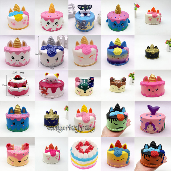best selling squishy Cute Pink cake Toys 11CM Colorful Cartoon Cake Tail Cakes Kids Fun Gift Squishy Slow Rising Kawaii Squishies