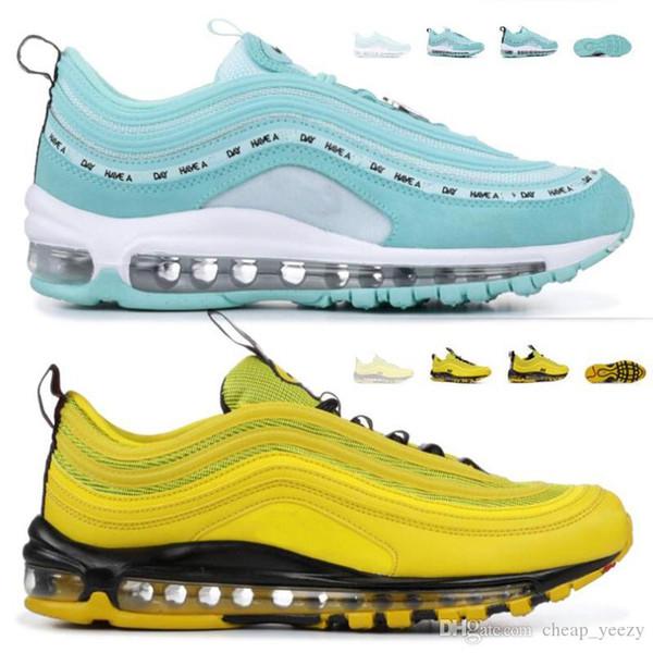 2019 Designer 97s Scarpe da corsa SE GS Metallic Gold Silver Bullet Tab Uomo Donna Sneakers sportive unisex Scarpe da passeggio per esterni