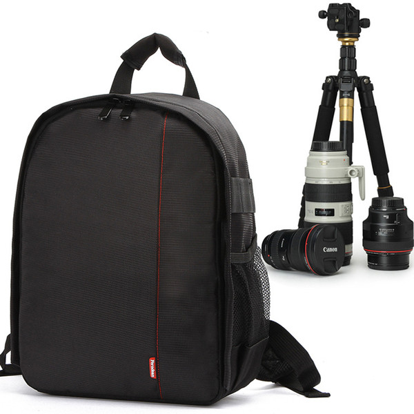 Backpack Camera Waterproof Digital DSLR Photo Padded Bag Outdoor Soft Video Case for Nikon/ for Canon/ DSLR Multi-functional cover free ship