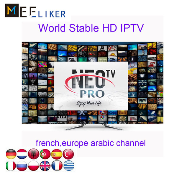 French Arabic Neotv iptv subscription Neopro 1300 Live channels 2000movies 1year free for smart tv fire stick android tv box MAG 254 256