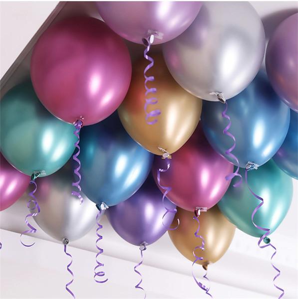 "10 Violet 12 /""Métallique Hélium balloons-wedding"