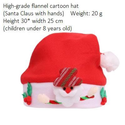 Child Flannel Santa Claus with hand