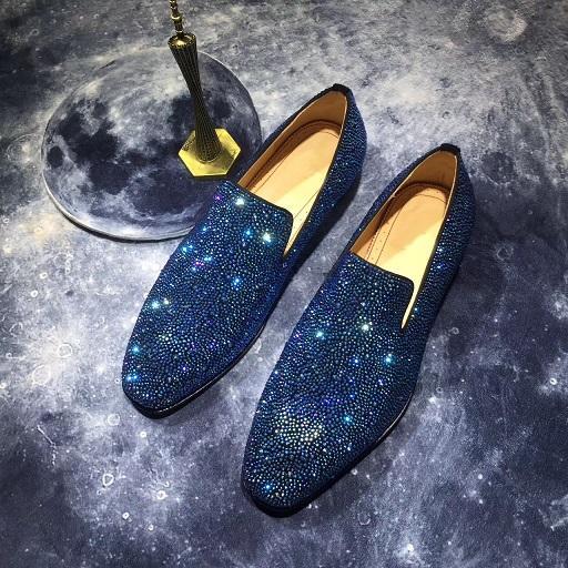 Boîte d'origine + Sac à poussière Designers de luxe Robe de soirée de mariage Robe Rouge Mocassins Chaussures Hommes Diamants Affaires Casual Oxford Chaussures Taille 35-47