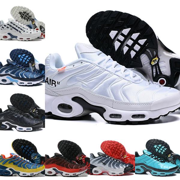 Nike Air Max TN Plus Supreme Shoes airmax Tn Off white Maxes Plus Schuhe Atmungsaktiv MESH Noir Tn Requin Chaussures OG Jogging Turnschuhe Basketball Tns Zapatillaes