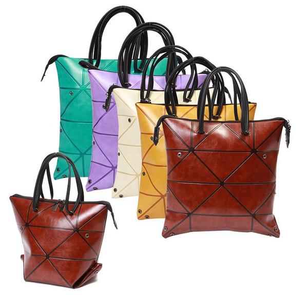 Women Handbag Luminous Geometric Fold Over bag Women Handbag Designer Diamond Lattice Woman Shoudler Bags 32*35cm