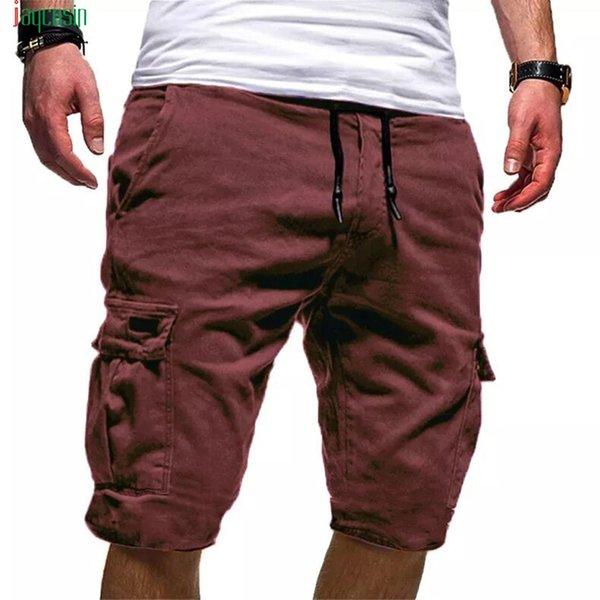 Jaycosin Mens Cargo Shorts New Solid Tactical Shorts Men Cotton Loose Work Casual Short Pants Drawstring Pantalones