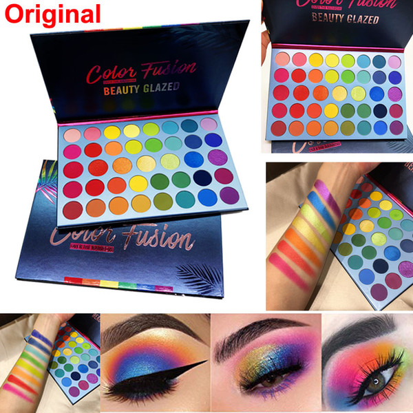 Makeup eye hadow palette beauty glazed color fu ion eye hadow 39 color glitter matte himmer high pigmented face highlighter new dhl