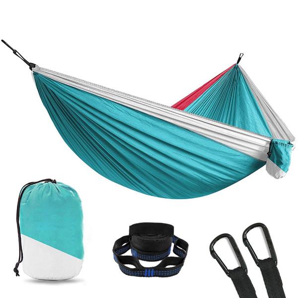 Outdoor Furniture Nylon Hammock Travel Tree Camping Swing Hanging Chair Survivors Camping Sleeping Portable Folding Hammock