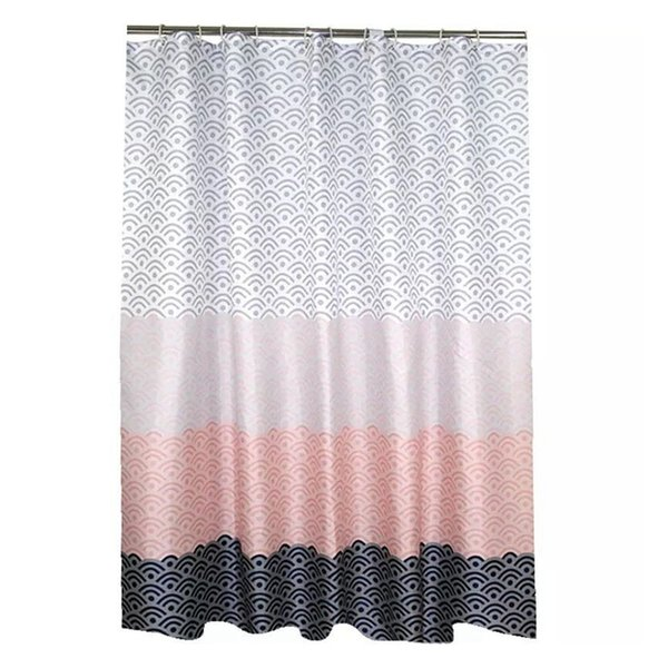 opening promotion-Modern Geometric Shower Curtain Waterproof Polyester Fabric Bathroom Curtain For Bathroom Decorate With Plas