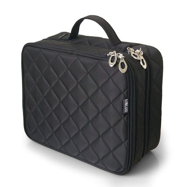 Soft Cosmetic Carry Box Travel Multi Use Organizer Large Capacity Brush Storage Waterproof Nylon Mesh Double Layer Makeup Bag