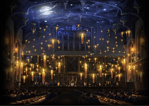 7x5FT Harry Potter Poudlard Bougies Église Déjeuner Hall Custom Photo Fond Studio Toile de Fond Vinyle 220cm x 150cm