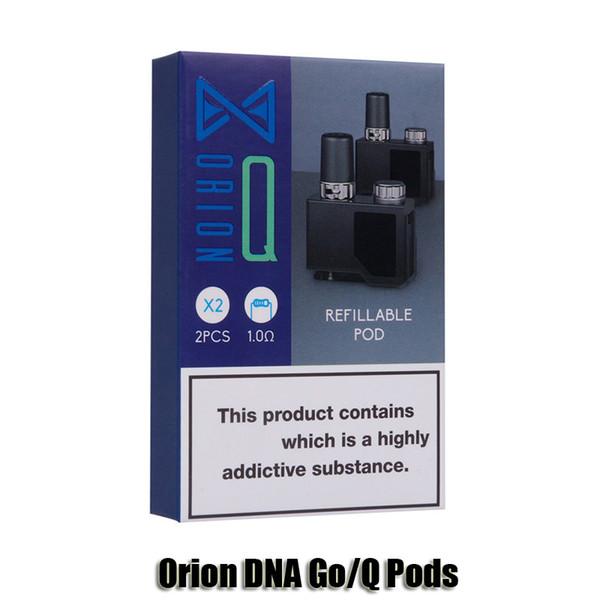 Аутентичные Lostvape Orion ДНК Go 0.25Ohm Pod Q 1.0Ohm картриджи 2мл Пустой Замена Refillable Тележки Бобы для потерянной Vape Наборы Подлинные