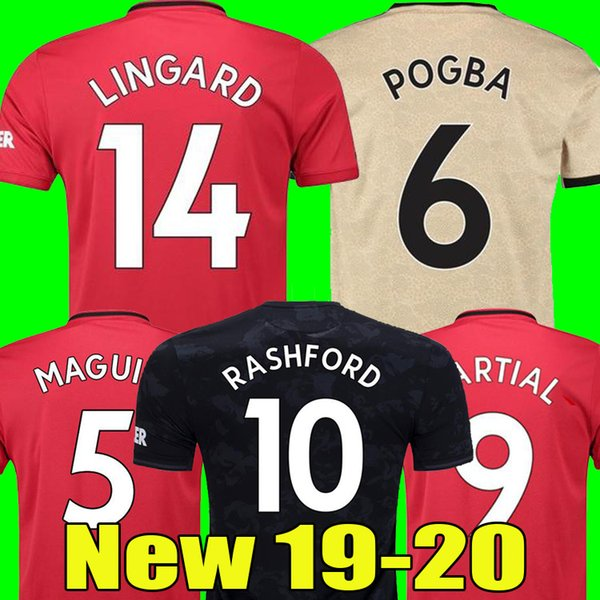 best selling Thailand FC manchester POGBA soccer jersey 2019 2020 LINGARD RASHFORD football shirt united UtD 19 20 MAGUIRE uniforms man kids kit jerseys