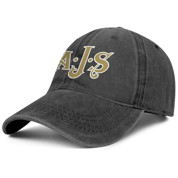 AJS Motorcycles Logo black mens and womens Denim Cap trucker cap ball styles custom uk hats Black