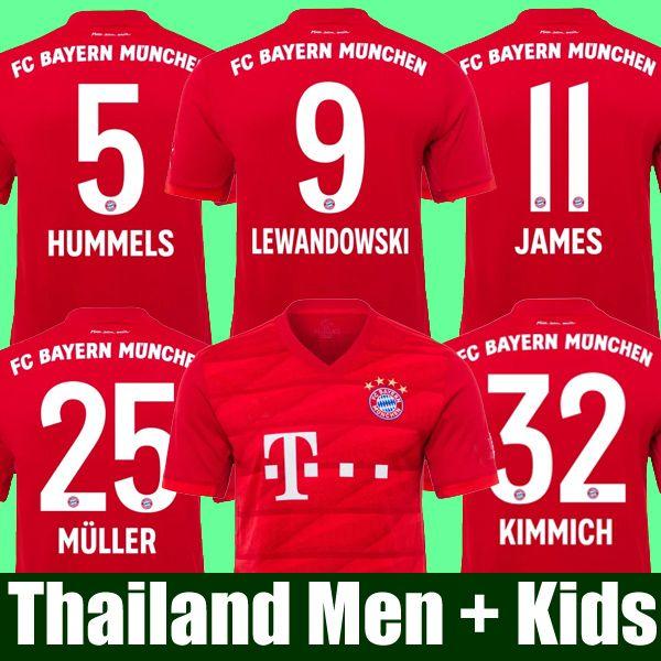 Top Thailand Bayern München JAMES RODRIGUEZ Trikot 2018 2019 2020 LEWANDOWSKI MULLER KIMMICH Trikot 18 19 20 HUMMELS Trikot