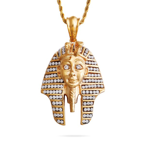 European and American Egyptian Pharaoh Pendant Hip Hop Necklace Male Creative Domineering Symbol Avatar Pendant Accessories