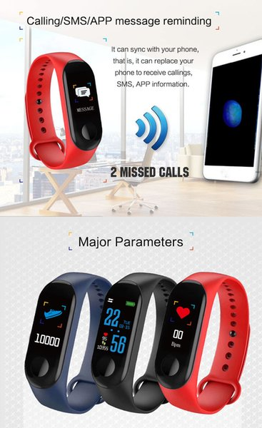 IPS high-definition full color display Smart Band Bracelet Heart Rate Watch Activity Fitness Tracker Bracelet watches PK smart watch