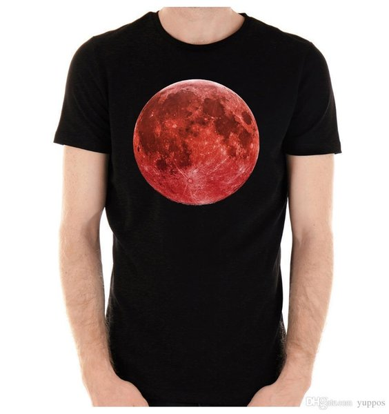 Summer 2018 New Blood Red Full Moon T Shirt Lunar Eclipse Witch Vampire  Grunge Short Sleeve Casual O Neck T Shirts Ringer T Shirts Political T  Shirts