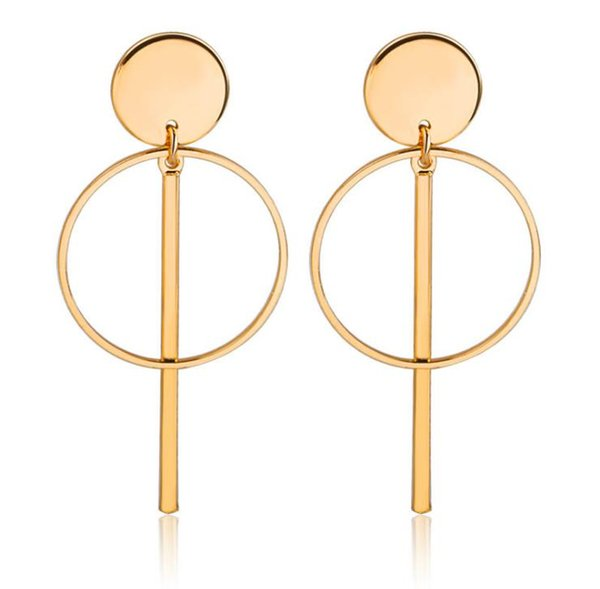 New European and American style fashion temperament and personality concise hollow tasseled Earrings long ear pendant earrings