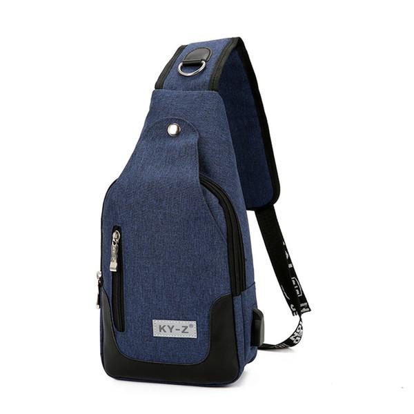 65cced2dc8ef Противоугонная износостойкая сумка через плечо Повседневная личность  Многоцветная сумка для груди Большая емкость Crossbody сумка USB зарядка  Открытый ...
