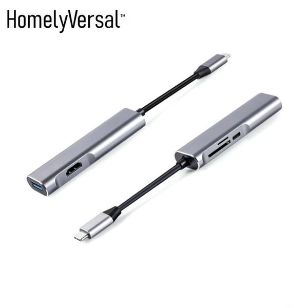 Homelyversal USB 3.0 Universelle Dual-Display-Dockingstation unterstützt HDMI + SD / TF-USB-Anschlüsse zum Anschließen an einen Fernseher mit Telefon