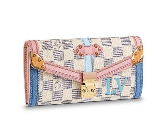 Sarah Carteira N60119 New Mulheres Mostra Moda exóticas bolsas de couro Bolsas Iconic Evening Embreagens Cadeia Carteiras Purse