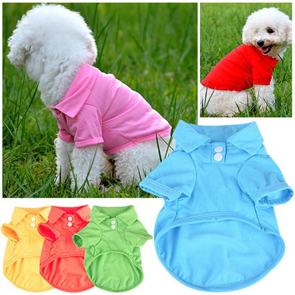Cute Pet Puppy Shirt Small Dog Cat Pet Clothes Costume Apparel T-Shirt Pet Dog Clothes For Dogs Coat Jacket Cotton Pets Clothing