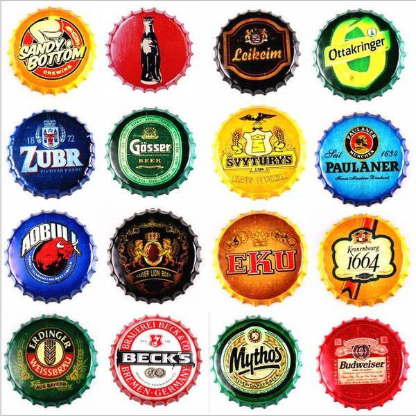 Cartel de barra de metal de cerveza Corona Extra Vintage redondo cartel de chapa diseño de tapa de botella tapa de cerveza artesanía de metal para bar restaurante cafetería LXL303