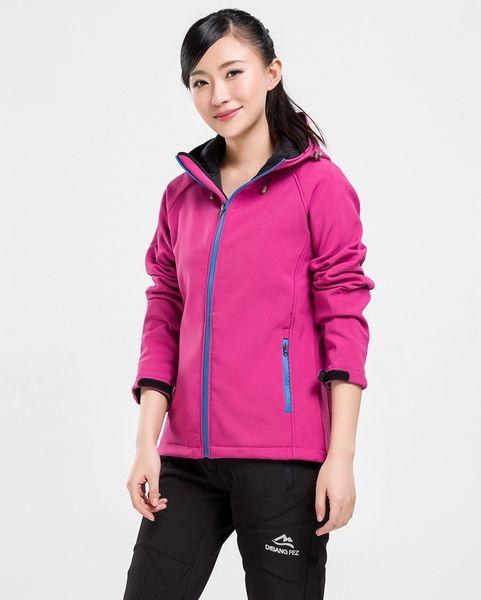 2019 Hot Sale Winter Spring Womens Long Sleeve Fleece SoftShell Hoodies Jackets Coats Fashion Casual Windproof Ladies Coats
